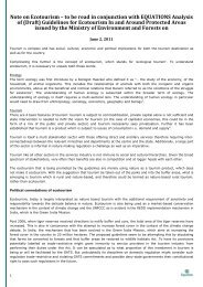 Note to be read in conjuction with analysis of ecotourism guidelines