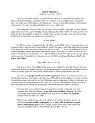 1 MOSES' MISTAKE Exodus 2:11-15; Acts 7:23-29 ... - Vital Christianity