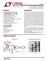 LT1210 - 1.1A, 35MHz Current Feedback Amplifier (CFA) - Linear ...