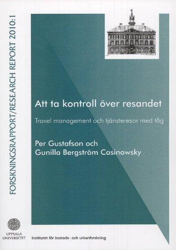 Att ta kontroll över resandet: Travel management och tjänsteresor ...