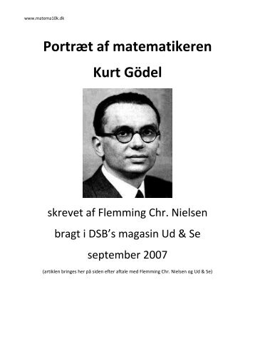 Portræt af matematikeren Kurt Gödel - Matema10k.dk