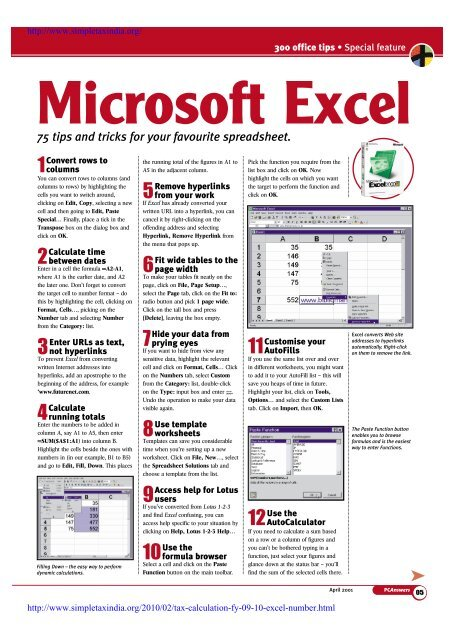 75 tips and tricks for your favourite spreadsheet  Microsoft Excel