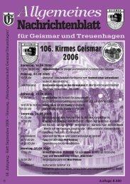 Nachrichtenblatt September 2006 - Werbegemeinschaft Geismar ...