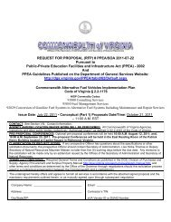 PPEA-SOA 2011-07-22 - Virginia Clean Cities