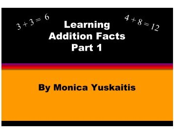 Learning Addition Facts Part 1