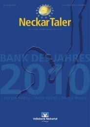 Bank des Jahres - Volksbank Neckartal eG
