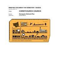 CHRISTCHURCH CHURCH - MArch(Prof) 2013ThesisWork