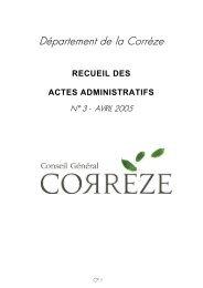 Département de la Corrèze - Conseil Général de la Corrèze
