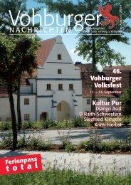 August 2009 - Stadt Vohburg