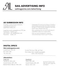 Ad Specifications & Digital Requirements - Sail Magazine