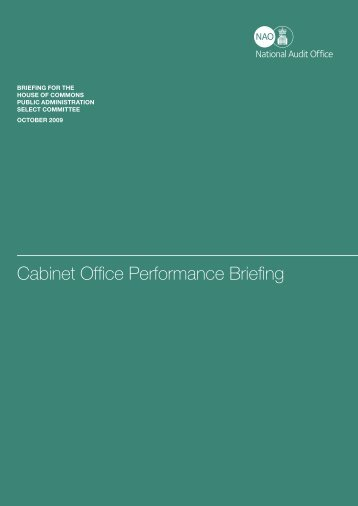 Cabinet Office Performance Briefing - National Audit Office