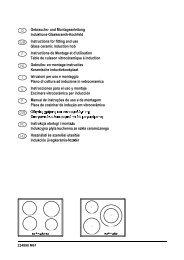 Gebrauchs und Montageanleitung Induktions Glaskeramik Kochfeld ...