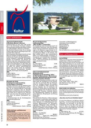 30 Kunst- und Kulturreisen Kunst- und Kulturgeschichte - VHS SüdOst