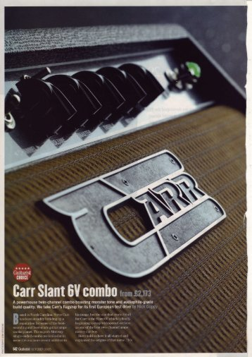 Guitarist, Oct 2005 - Carr Amplifiers Home