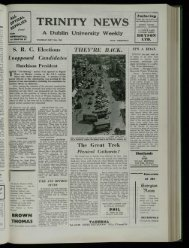 University Weekly - Trinity News Archive