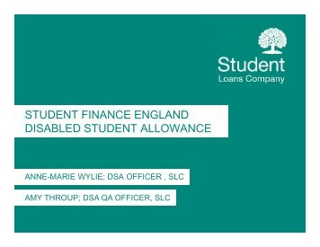 SFE Disabled Student Allowance - HEI Services