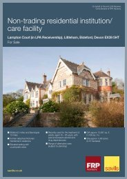 Non-trading residential institution/ care facility - Savills