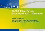 Use of Datex II in the German Mobility Data Marketplace by local ...