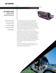 RF-5800H-V006 20 Watt HF/VHF Vehicular Adapter Data Sheet
