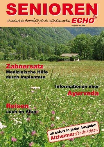 Ausgabe 1 / 2008 - SENIOREN-ECHO.de