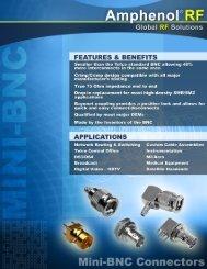 Mini BNC Brochure - Amphenol RF