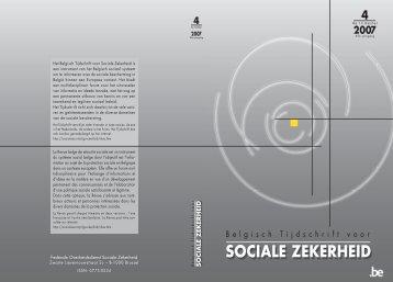 Nummer 4/2007 (.pdf) - FOD Sociale Zekerheid