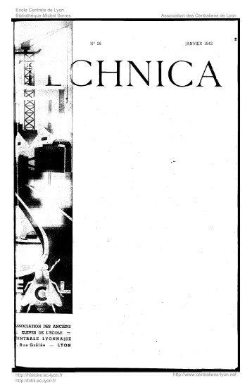 Revue Technica, année 1942, numéro 26 - Histoire de l'École ...