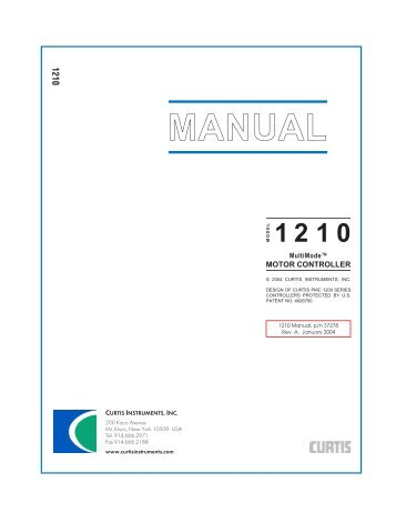 data sheet curtis instruments 1210 manual curtis instruments