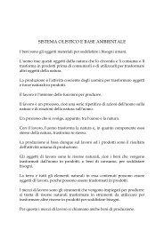 SISTEMA OLISTICO E BASE AMBIENTALE
