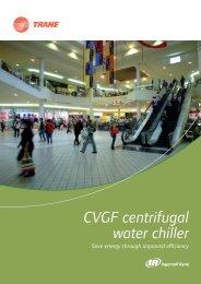 CVGF centrifugal water chiller - Trane
