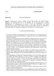 Determina n. 10 del 30/03/2009 - Policlinico di Modena