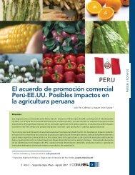 El acuerdo de promoción comercial Perú-EE.UU. Posibles impactos ...