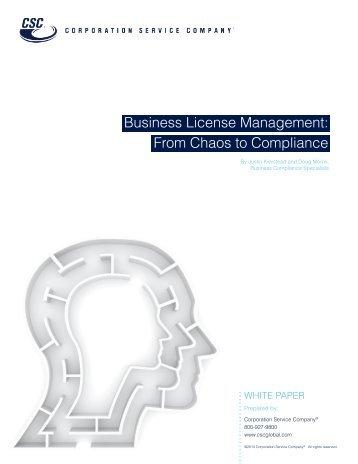 Business License Management - Corporation Service Company