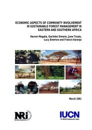 Economic Aspects of Community Involvement in Sustainable Forest