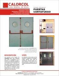 puertas cortafuego - Calorcol