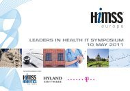 leaders in health it symposium 10 may 2011 - World of Health IT
