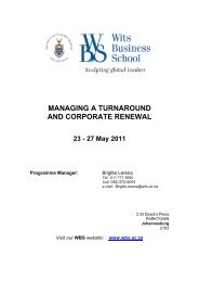 managing a turnaround and corporate renewal - CRS Business ...