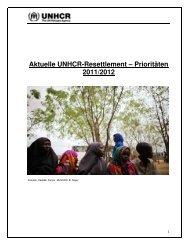 Aktuelle UNHCR-Resettlement – Prioritäten 2011/2012