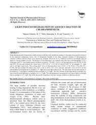 light induced degradation of aqueous solution of chloramphenicol