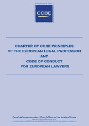 ch charter of core principles of the european legal profession and ...