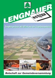 LN 2009-4.pdf - Einwohnergemeinde Lengnau BE