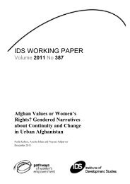Afghan Values or Women's Rights? - Institute of Development Studies