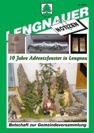 LN 2011-4.pdf - Einwohnergemeinde Lengnau BE