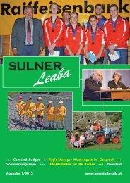 Gemeindezeitung 1/13 - Gemeinde Sulz