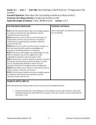 Grade 8 Unit 2 Lesson Plans.doc - East Aurora School District #131