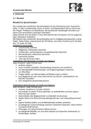 Grundschule Werther 3. Unterricht 3.1. Deutsch ... - Stadt Werther
