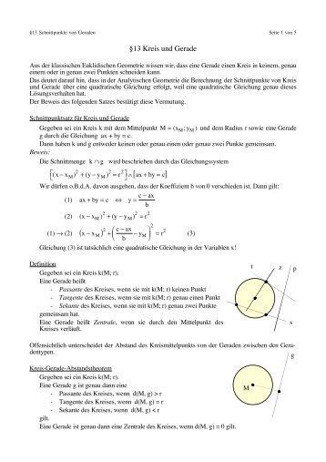 §13 Kreis und Gerade