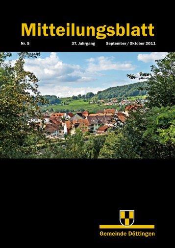 Mitteilungsblatt Nr. 5/2011 - Gemeinde Döttingen