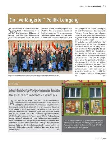 Beitrag dreieck Ausgabe 1/2013