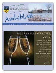 Amtsblatt vom 05.01.2012 (KW 1) - Gemeinde Böhl-Iggelheim